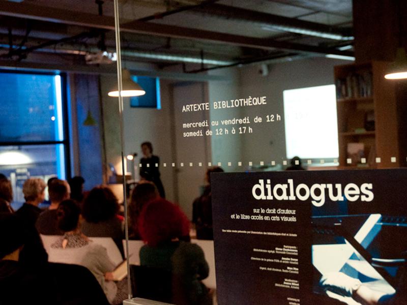 Table ronde, Dialogues sur le droit d'auteur et le libre accès en arts visuels, 2017